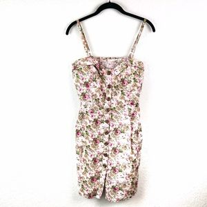 Poetry Floral Button Front Dress